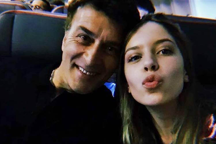 Tony Carreira com a filha/Instagram